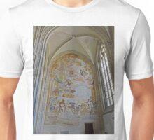 Mural, St Barbara's cathedral, Kutna Hora, Czech Republic Unisex T-Shirt