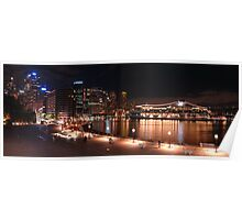 Golden Harbour Panorama Poster