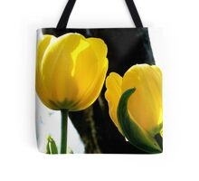 Standing tall! - Yellow Tulips - NZ - Gore - Southland Tote Bag