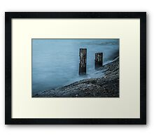 Waves on the Sausalito Shore Framed Print