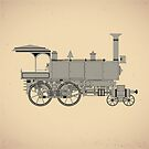 Old steam locomotive by Alexzel