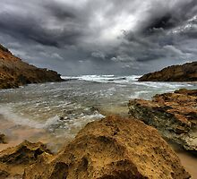 Storm at Pearse's beach by Jim Worrall