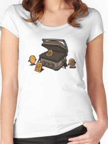 Pancakes Solarium Women's Fitted Scoop T-Shirt