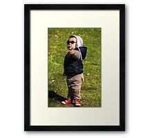 """""""Hey You...No Photos!"""" Framed Print"""