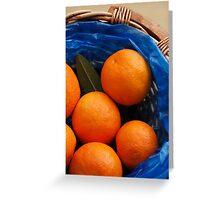 A basket of Oranges Greeting Card