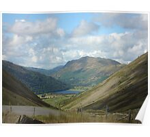 Cumbrian hills with a watery tarn view Poster