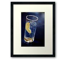 Tonic with Lemon Framed Print
