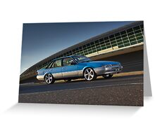 Blue Holden Commodore VL Turbo Greeting Card