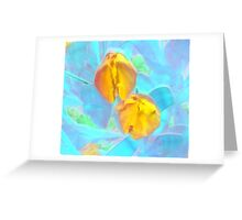 Yet to Open Yellow Tulip Duo Greeting Card