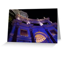 The Forum Shops Glamorous Entrance at Night Greeting Card