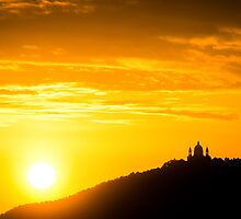 Turin (Torino), sunset on Superga by MarcoSaracco