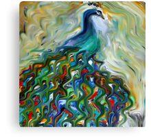 peacock, animal, wildlife, bird, nature Canvas Print