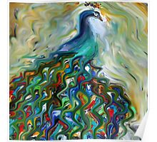 peacock, animal, wildlife, bird, nature Poster
