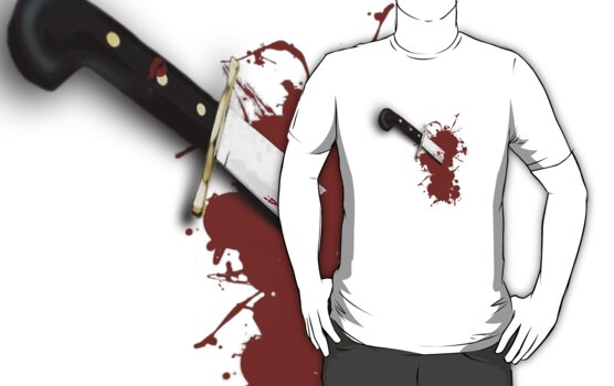 Don't Run With Knives! (no text) Tee by BluAlien