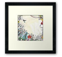 I'VE JUST CREATED A BIRD Framed Print