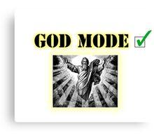 God Mode Canvas Print