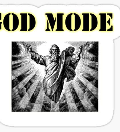 God Mode Sticker