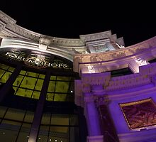 Another View of the Forum Shops Glamorous Entrance at Night by Georgia Mizuleva