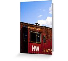 N&W 5575 Caboose Greeting Card