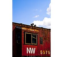 N&W 5575 Caboose Photographic Print