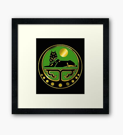 Chechen coat of arms Framed Print
