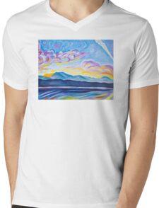 Jetstream And Comox Glacier Mens V-Neck T-Shirt