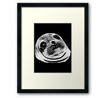 Awkward Seal Framed Print