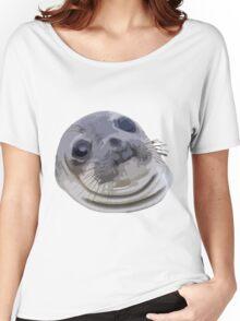 Awkward Seal Women's Relaxed Fit T-Shirt