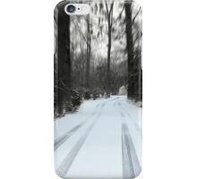 Lonely Cold Road  iPhone Case/Skin