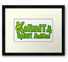 Kermit is my spirit animal Framed Print