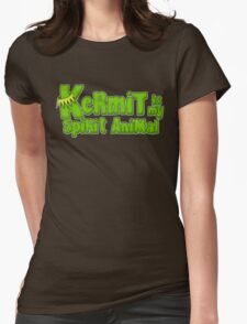 Kermit is my spirit animal Womens Fitted T-Shirt