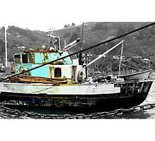 I am still seaworthy - NZ - Fishing Boat - Port Chalmers Photographic Print