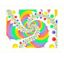 children´s spiral Art Print