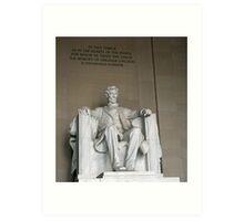 Lincoln Memorial 4 Art Print