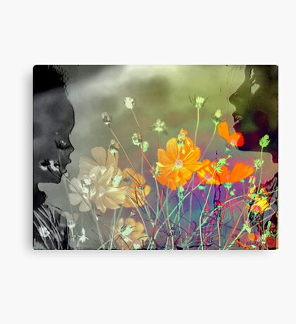 The colours of Love - Mother and child Canvas Print