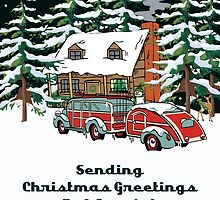 Aunt & Her Family Sending Christmas Greetings Card by Gear4Gearheads