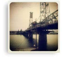 Steel Bridge, Portland 2 Canvas Print