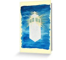 A Day in the Life of a Tardis Greeting Card