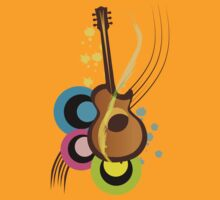 Abstract Guitar for Tshirts by nidesh