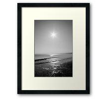 Black and white sunrise Framed Print