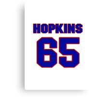National football player Tam Hopkins jersey 65 Canvas Print