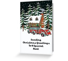 Aunt Sending Christmas Greetings Card Greeting Card