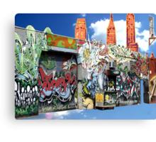 Graffiti in Brooklyn Canvas Print