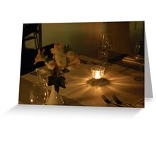 Candle ligt. Greeting Card