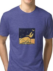 DOG MOON ART  Tri-blend T-Shirt