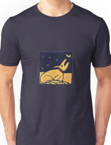DOG MOON ART  Unisex T-Shirt