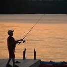 Fishing by sunset by Nixter