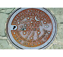 True New Orleans Sewer Cover Photographic Print