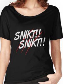 """FanboysInc's IncWear """"SNIKT SNIKT"""" Tee Women's Relaxed Fit T-Shirt"""