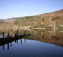 Reflection in Loch Earn, Scotland. by Ian Yates